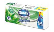 """Papír zsebkendő, 3 rétegű, 100 db, """"Sindy"""", aloe vera"""