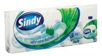 """Papír zsebkendő, 3 rétegű, 10x10 db, """"Sindy"""", aloe vera"""