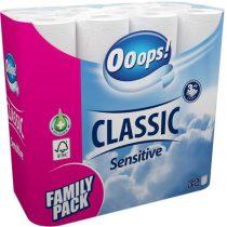 """Toalettpapír, 3 rétegű, 32 tekercses, """"Ooops!"""", sensitive"""