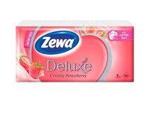 """ZEWA Papír zsebkendő, 3 rétegű, 90 db, ZEWA """"Deluxe"""", eper illatú"""
