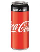 """COCA COLA Üdítőital, szénsavas, 0,33 l, dobozos, COCA COLA """"Coca Cola Zero"""""""