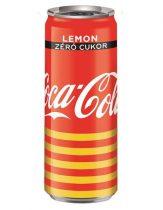 "COCA COLA Üdítőital, szénsavas, 0,33 l, dobozos, COCA COLA ""Coca Cola Zero Lemon"""