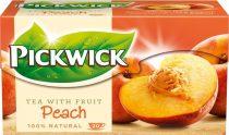 PICKWICK Fekete tea, 20x1,5 g, PICKWICK, őszibarack
