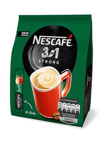 "NESCAFE Instant kávé stick, 10x17 g, NESCAFÉ,  3in1 ""Strong"""