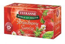 "TEEKANNE Gyümölcstea, 20x2,5 g, TEEKANNE ""Strawberry Sunrise"", eper"