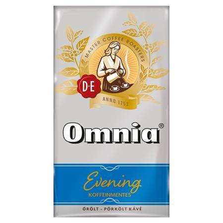 """DOUWE EGBERTS Kávé, pörkölt, őrölt, vákuumos csomagolásban, 250 g,  DOUWE EGBERTS """"Omnia Evening"""", Koffeinmentes"""
