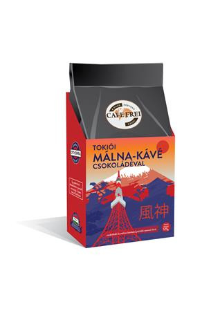 """CAFE FREI Kávé, pörkölt, szemes, 125 g, CAFE FREI """"Tokiói csokoládés-málna"""""""