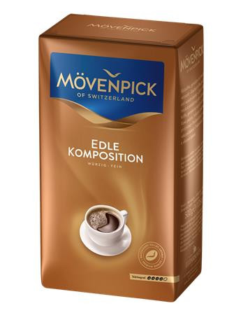 """MÖVENPICK Kávé, pörkölt ,őrölt, vákuumos csomagolásban, 500 g, MÖVENPICK """"Edle Komposition"""""""