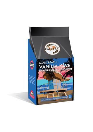 """CAFE FREI Kávé, pörkölt, szemes, 125 g, CAFE FREI """"Miami vanília"""" fahéjjal és szerecsendióval"""
