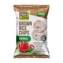 RICE UP Barnarizs chips, 60 g, RICE UP, paprikás