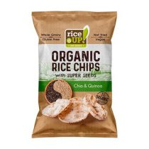 "RICE UP Barnarizs chips, 25 g, RICE UP ""Bio"", chia maggal és quinoával"