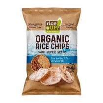 "RICE UP Barnarizs chips, 25 g, RICE UP ""Bio"", hajdinával és amaránttal"