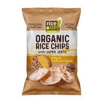 "RICE UP Barnarizs chips, 25 g, RICE UP ""Bio"", kölessel és napraforgóval"