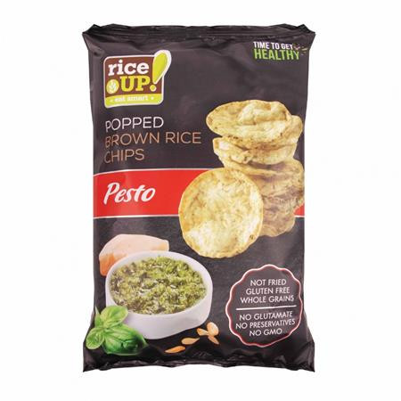 RICE UP Barnarizs chips, 60 g, RICE UP, pesto