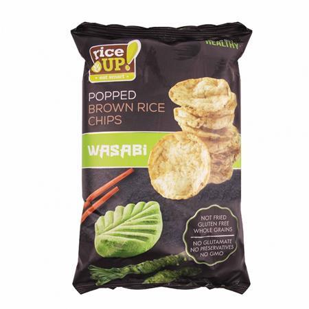 RICE UP Barnarizs chips, 60 g, RICE UP, wasabi