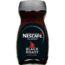 "NESCAFE Instant kávé, 200 g, üveges, NESCAFÉ ""Black Roast"""