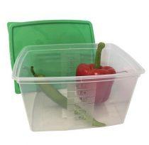 Ételtartó doboz+fedő, szögletes, műa., 2db-os szett, 3,5l (méret: 235 x 190 x 130 mm)