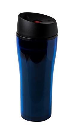 Coffee to Go termosz pohár, nyomógombos, színes, műanyag, 0,4l