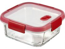"""CURVER Ételtartó, szögletes, üveg, 0,7 l, CURVER """"Smart Cook"""", piros"""
