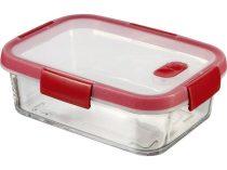 """CURVER Ételtartó, szögletes, üveg, 0,9 l, CURVER """"Smart Cook"""", piros"""