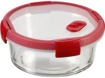 """CURVER Ételtartó, kerek, üveg, 1,2 l, CURVER """"Smart Cook"""", piros"""