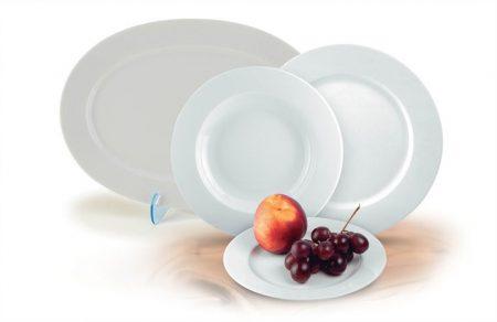 """ROTBERG Desszertes tányér,ROTBERG, fehér, 19 cm, 6db-os szett, """"Basic"""""""
