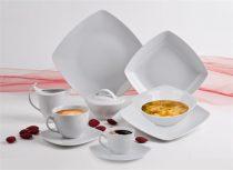 """ROTBERG Desszertes tányér,ROTBERG, fehér, 20cm, 6db-os szett, """"Quadrate"""""""