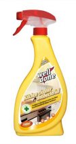 WELL DONE Konyhai fertőtlenítő hatású tisztítószer, szórófejes, 750 ml, WELL DONE