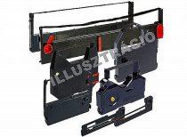 VICTORIA Festékszalag 13 mm-es két orsós írógéphez, VICTORIA GR 1 fekete-piros