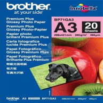 "BROTHER BP71G Fotópapír, tintasugaras, A/3, 260 g, fényes, ""Prémium Plus"" Brother"
