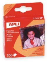 APLI Öntapadó fotósarok, 200 db/csomag