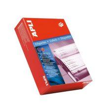 APLI Etikett, mátrixnyomtatókhoz, 2 pályás, 101,6x48,7 mm, APLI, 6000 etikett/csomag