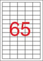 APLI Etikett, univerzális, 38x21,2 mm, eltávolítható, APLI, 6500 etikett/csomag