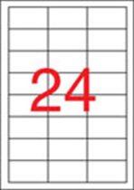 APLI Etikett, univerzális, 64,6x33,8 mm, eltávolítható, APLI, 2400 etikett/csomag