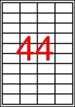 APLI Etikett, 48,5x25,4 mm, poliészter, kerekített sarkú, APLI, átlátszó, 440 etikett/csomag