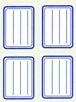 APLI Füzetcímke, kék szegélyes, vonalas, 38x50 mm, 20 db, APLI