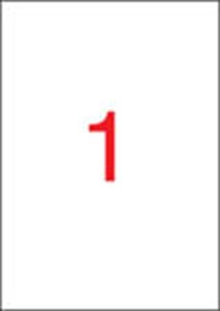 APLI Etikett, univerzális, 210x297 mm, APLI, 25 etikett/csomag