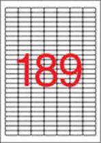 APLI Etikett, univerzális, 25,4x10 mm, kerekített sarkú, APLI, 3780 etikett/csomag
