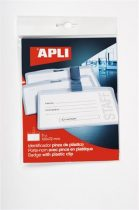APLI Névkitűző, csíptetővel, 100x72 mm, APLI