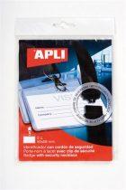 APLI Névkitűző, nyakba akasztható, biztonsági csattal, 90x56 mm, APLI