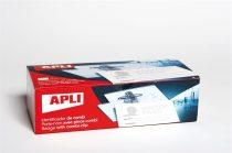 APLI Névkitűző, tűvel és csipesszel, 90x56, APLI