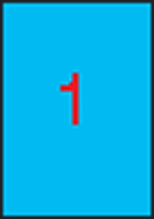APLI Etikett, 210x297 mm, színes, APLI, kék, 100 etikett/csomag