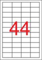 APLI Etikett, 48,5x25,4 mm, poliészter, időjárásálló, matt, APLI, áttetsző, 880 etikett/csomag