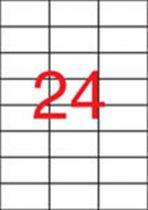 APLI Etikett, 70x37 mm, poliészter, időjárásálló, matt, APLI, áttetsző, 480 etikett/csomag