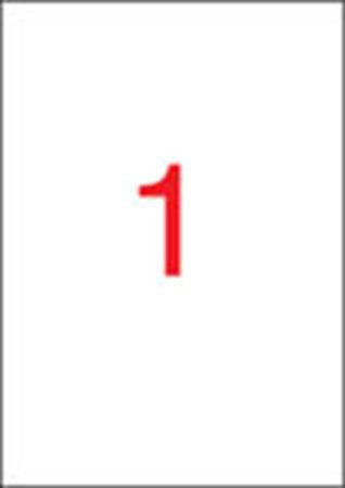 APLI Etikett, 210x297 mm, poliészter, időjárásálló, matt fehér,  APLI, 20 etikett/csomag