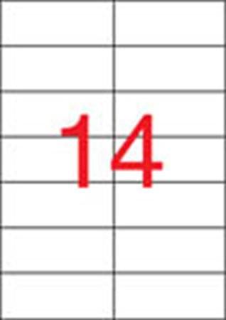 APLI Etikett, univerzális, 105x42,4 mm, APLI, 1400 etikett/csomag