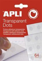 """APLI Ragasztókorong, eltávolítható, APLI """"Transparent Dots"""", átlátszó"""