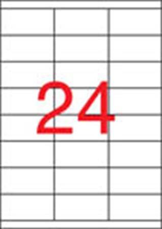 APLI Etikett, univerzális, 70x36 mm, APLI, 2400 etikett/csomag