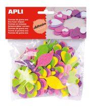 """APLI Moosgumi, öntapadó, glitteres, virágok, APLI """"Eva Sheets"""", vegyes színek"""