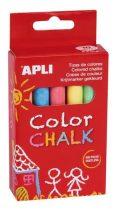 APLI Táblakréta, kerek, 10 darabos, APLI, vegyes színek